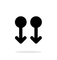Two finger drag down gesture abstract icon vector