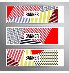 Striped pattern banners vector