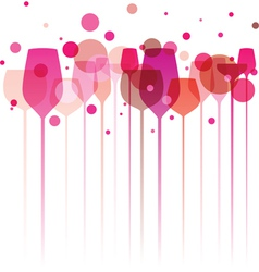 Pinky party glasses vector