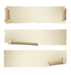 Old papper ribbon banner vector