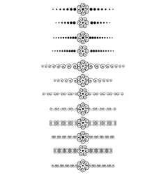 Set of vintage dividers vector