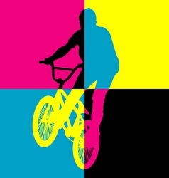 Ride bicycle vector