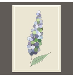 Purple spring flower vector