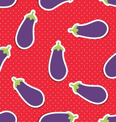 Eggplant pattern seamless texture with ripe vector