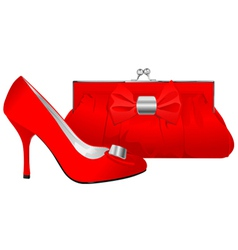 Shoe and purse vector