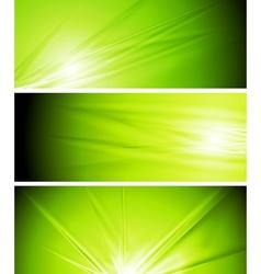 Light green summer banners vector