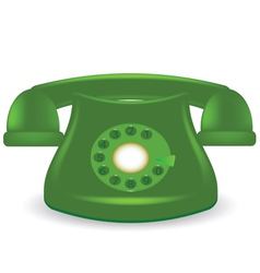 Green phone vector