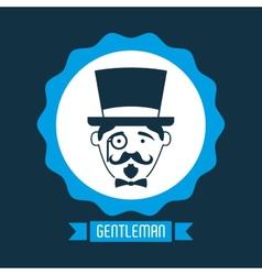 Gentleman icon vector