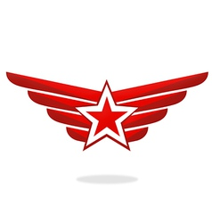 Star wing emblem logo vector
