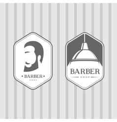 Set of vintage barber shop logos vector