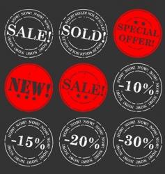Sale stamp set vector
