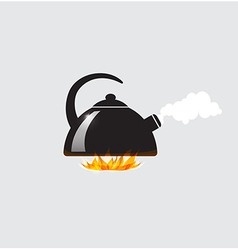 Background with black teapot vector