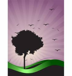 Tree silhouette vector