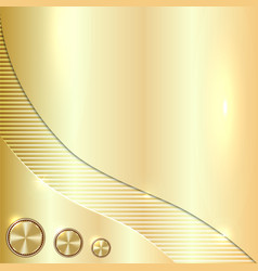 Golden metallic background vector