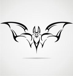 Bat tattoo design vector