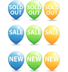 Round pointer for big sale new and sold out items vector