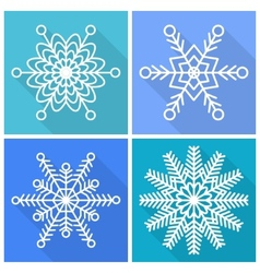 Collection of snowflakes icons vector