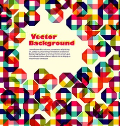 Pattern of colored geometric elements with place vector