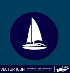 Sailing ship symbol icon boat steamer sailboat vector