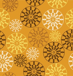 Elegant seamless pattern with yellow flowers vector