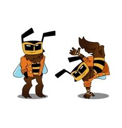 Cool bee in two variants vector