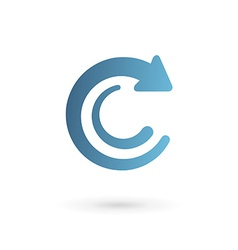 Letter c arrow logo icon design template elements vector