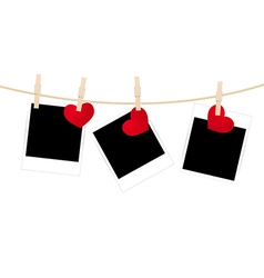 Photos clothespins hearts vector