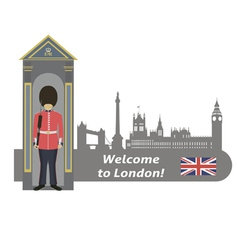 British royal guard vector