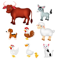 Farm animal collection set vector