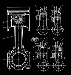 Set of blueprints vector