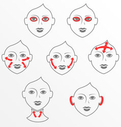 Face and neck plastic surgery vector