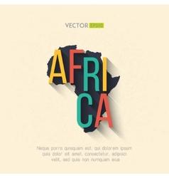 Africa map in flat design african border vector