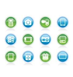 Media and electronics icons vector