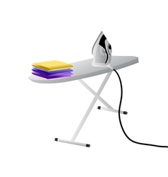 Iron and ironing board vector