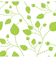 Seamless leaves pattern in green vector