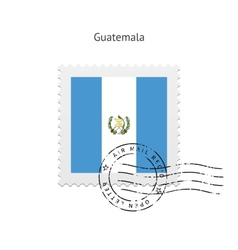 Guatemala flag postage stamp vector
