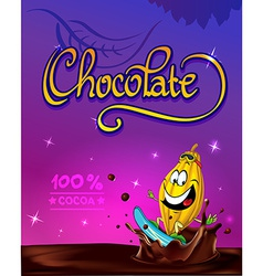 Funny chocolate design vector