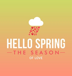 With template text hello spring creative de vector
