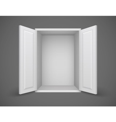 Empty white box with open vector