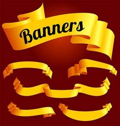 Yellow banners vector