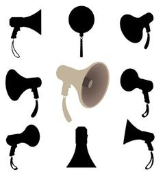 Megaphone silhouette vector