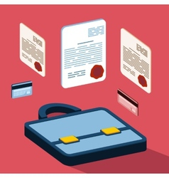 Business 3d documents concept vector
