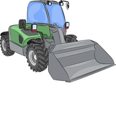 Wheel mini bulldozer vector