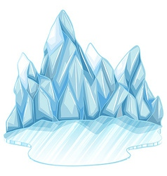 Frozen ice vector