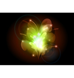 Abstract flower green vector