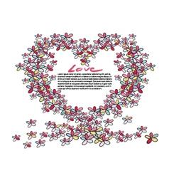 Flower heart shape vector