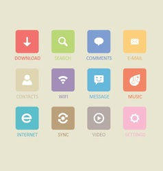 Mobile and tablet app icons 4 vector