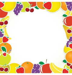 Frame with fruits vector