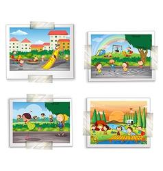 Playground photos vector
