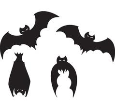 Set of bats vector